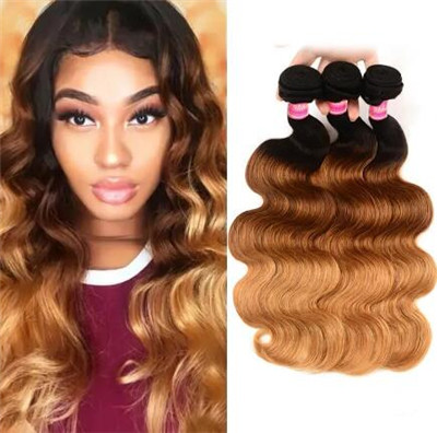 sew in hairstyles with color