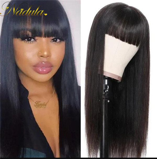 transparent lace wig with bangs