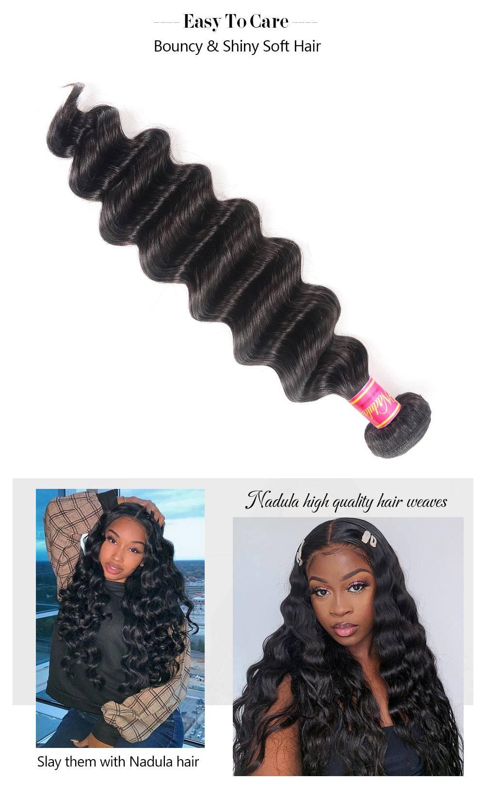 Loose Deep Wave Hair Human Hair Weave