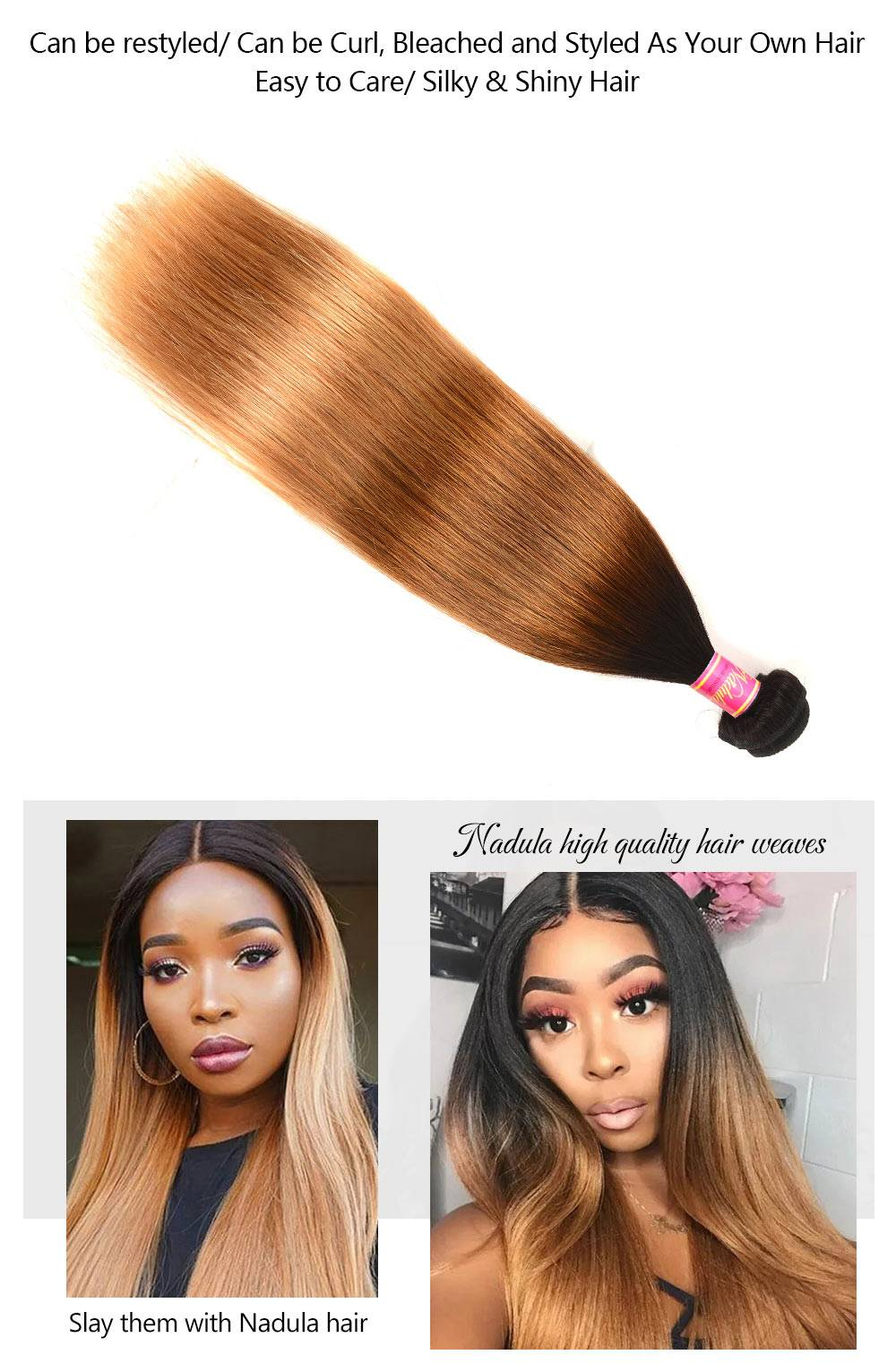 Ombre Virgin Straight Hair Extension