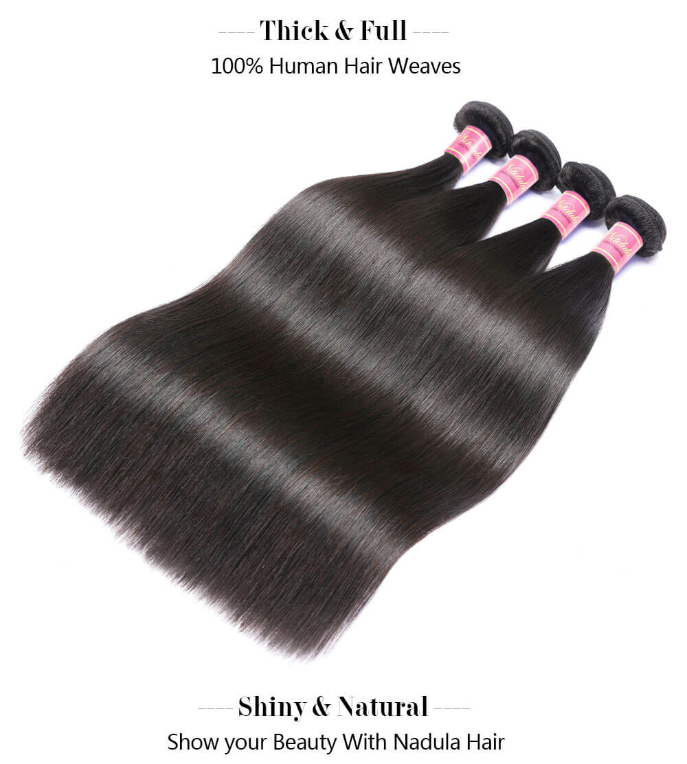Nadula Best Virgin Straight Hair Weave Bundles