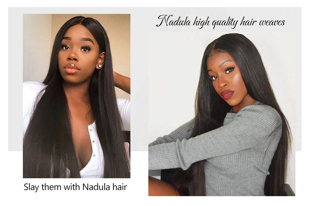 Nadula Best Virgin Straight Hair Weave Bundles Customer Show