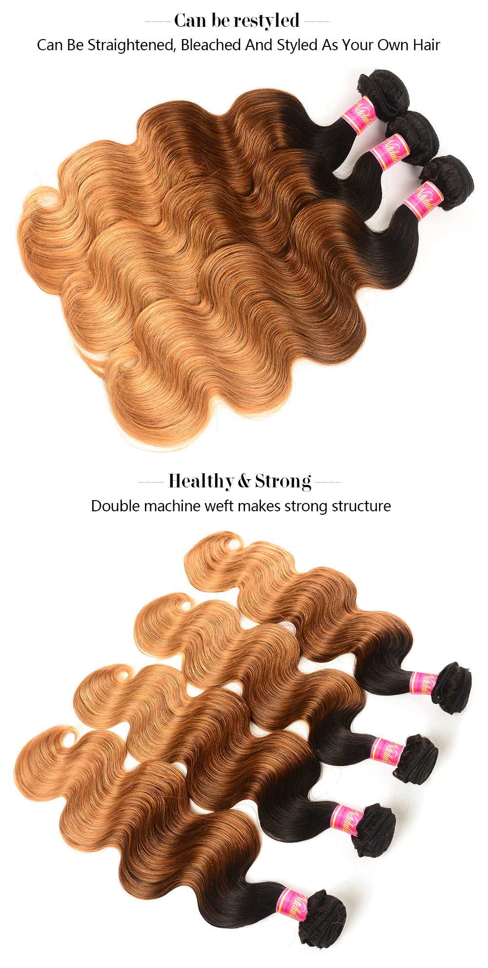 Body Wave Ombre Hair Weaves