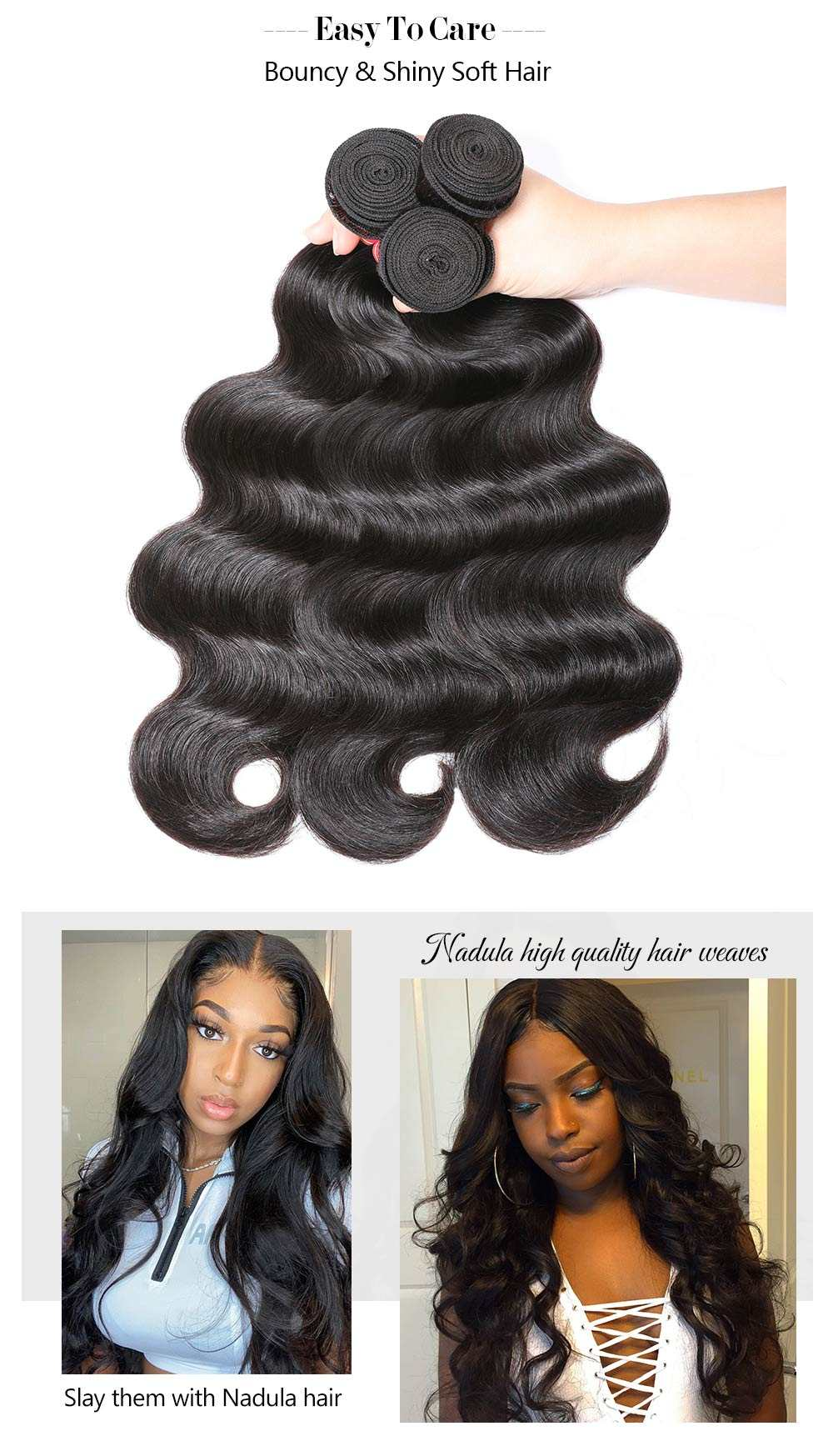 Body Wave Human Hair Weavess