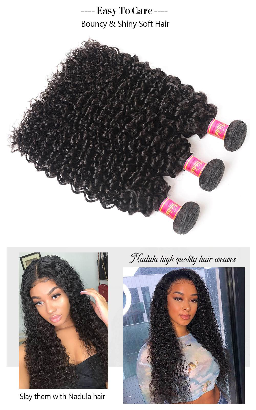 Curly Weave Remy Human Hair Weave
