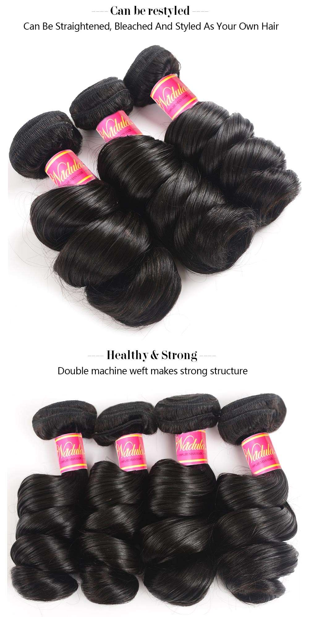 Virgin Remy Loose Wave Peruvian Hair