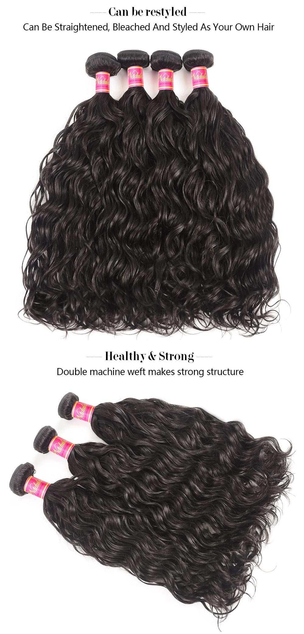 Virgin Hair Weave Natural Wave
