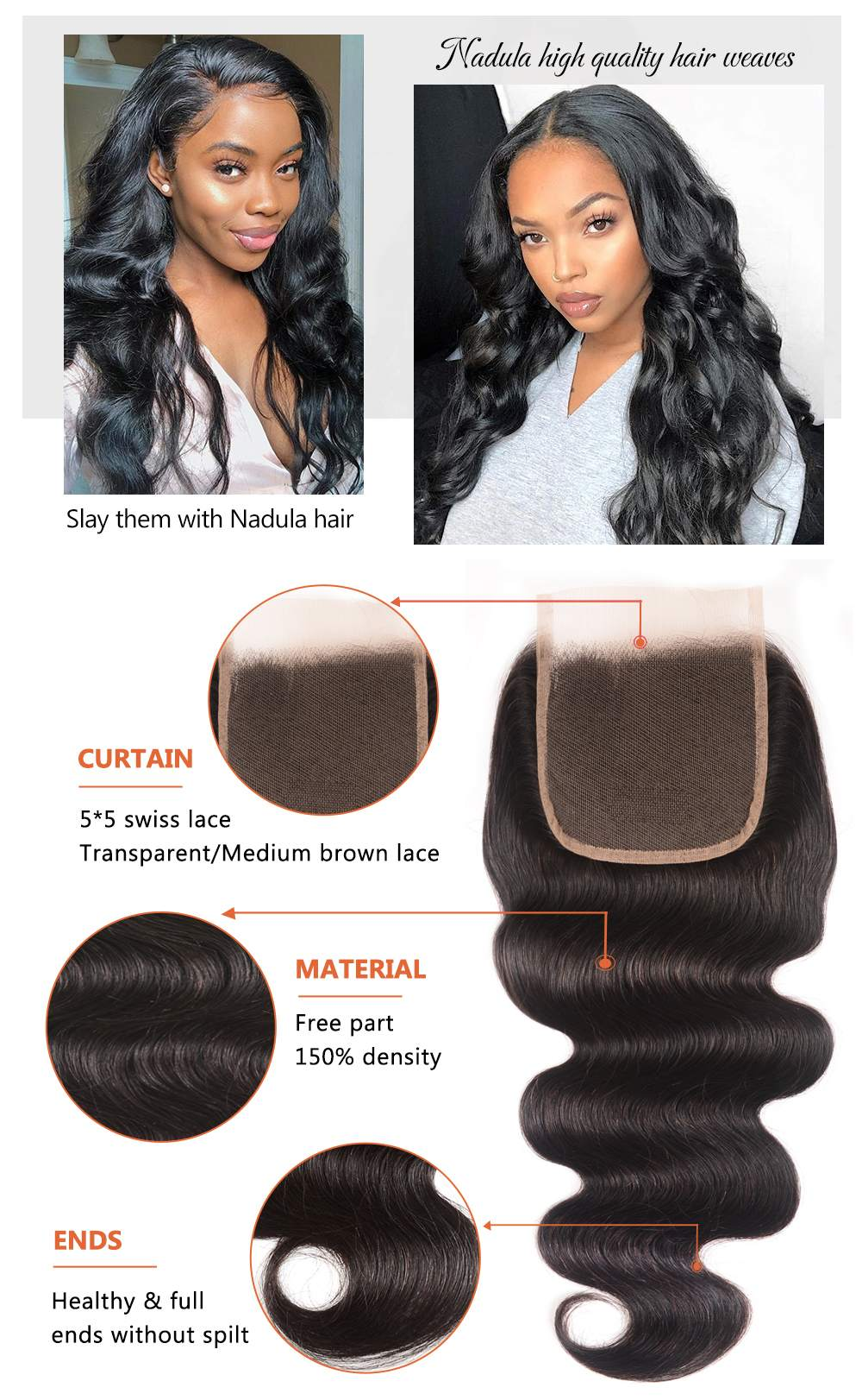 Lace Closure Body Wave human hair