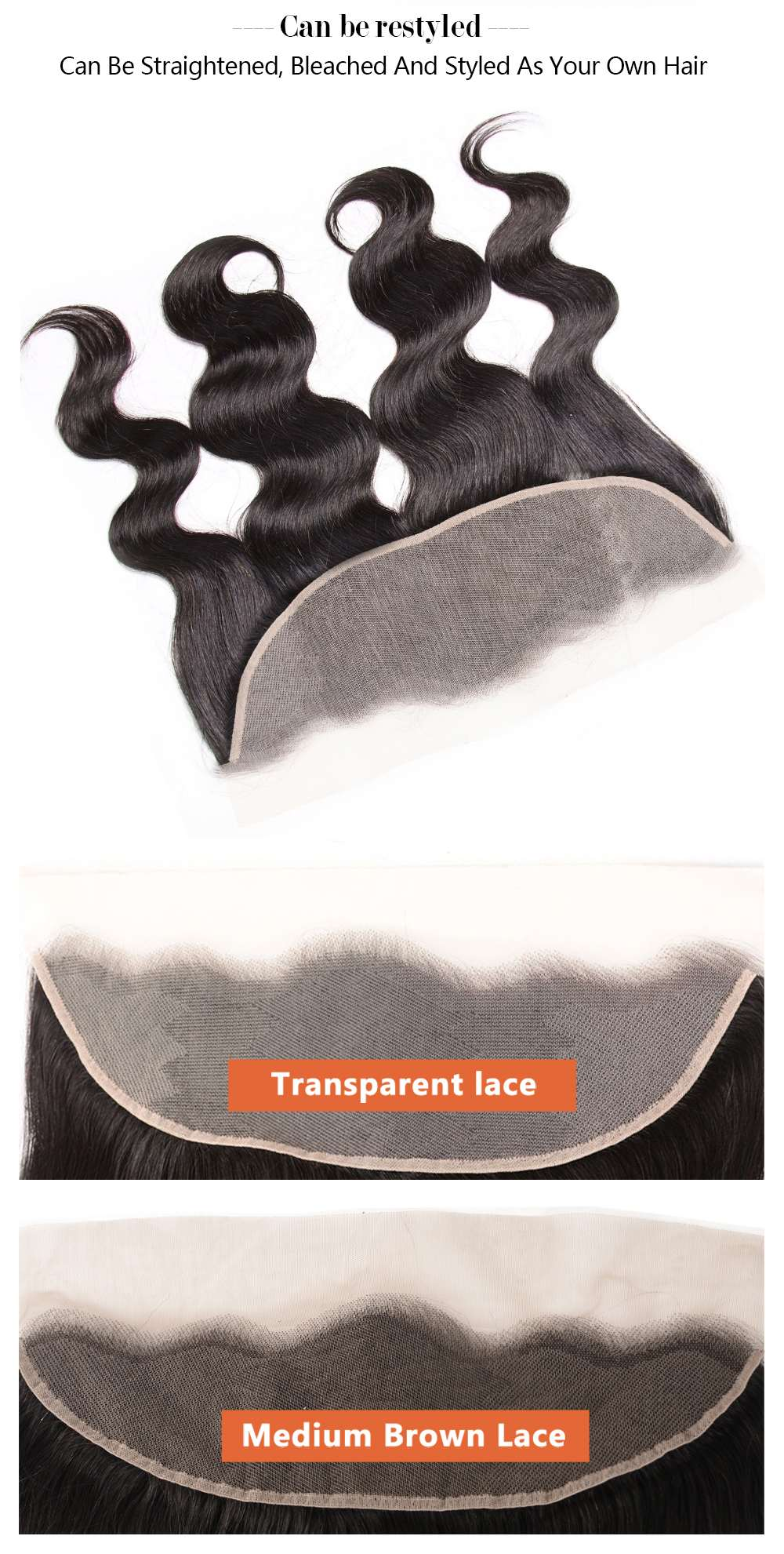 Transparent Lace Body Wave Lace Frontal