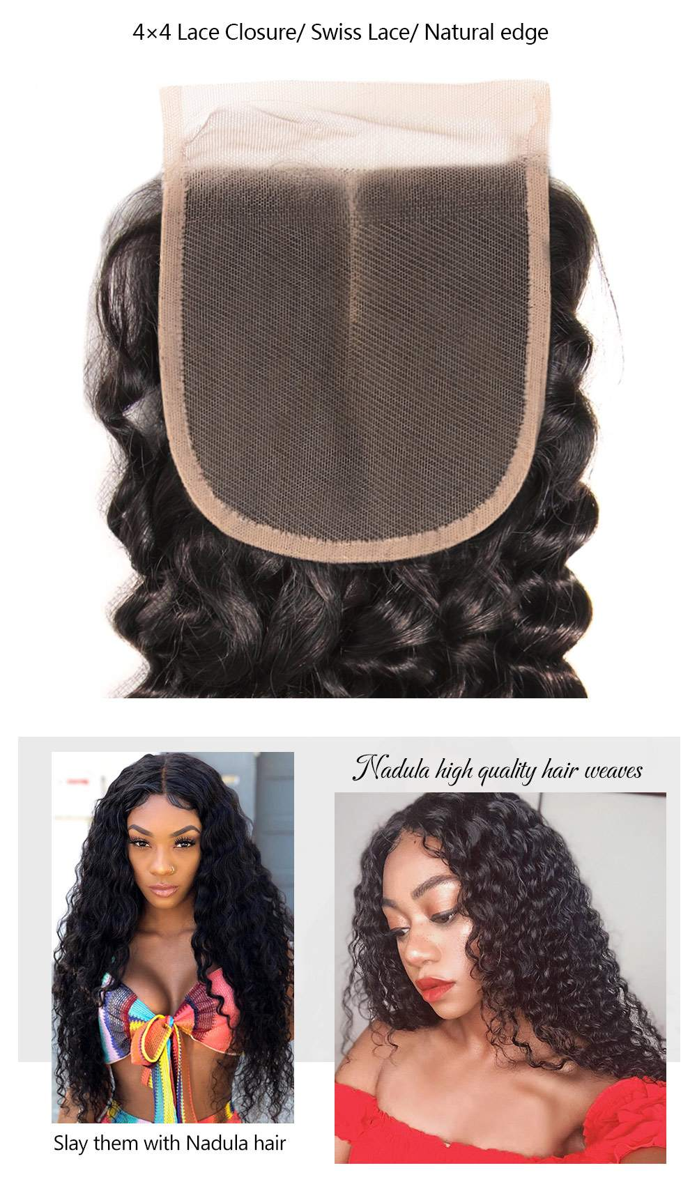 Deep Wave Virgin Hair Lace Closure