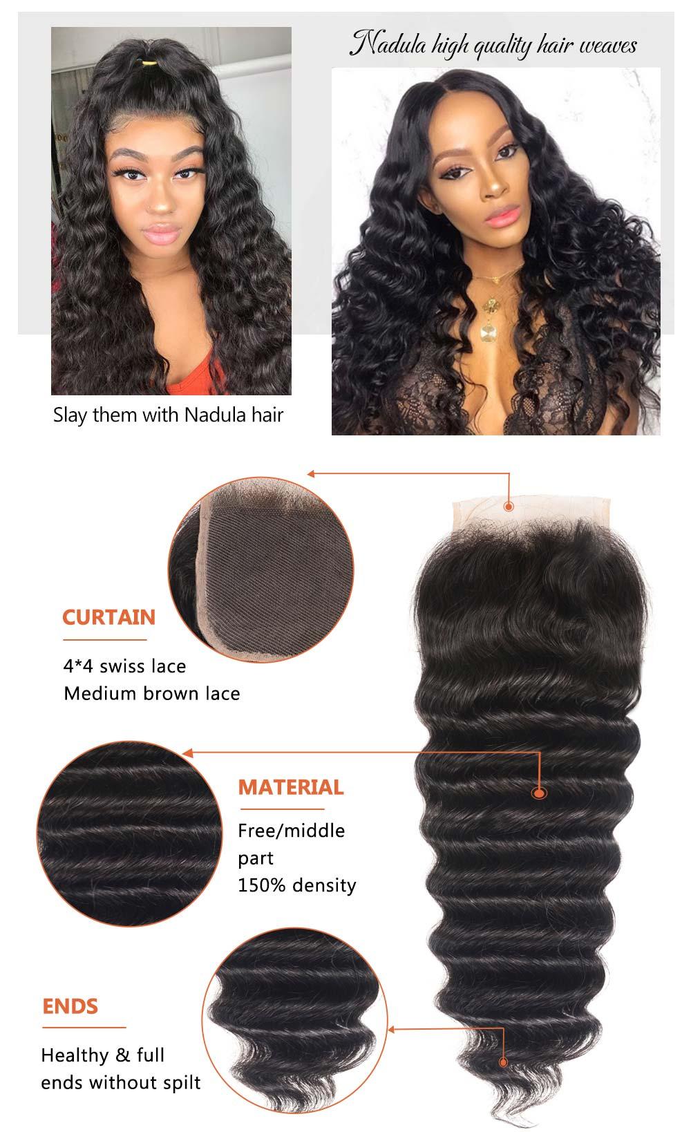 Loose Deep Virgin Hair 4*4 Lace Closure