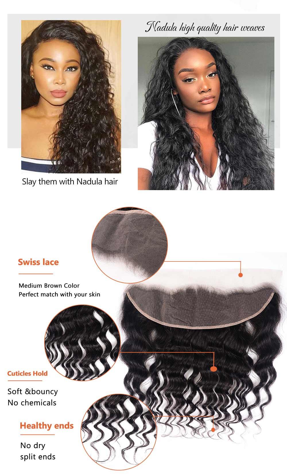 Natural Wave Virgin Hair Lace Frontal