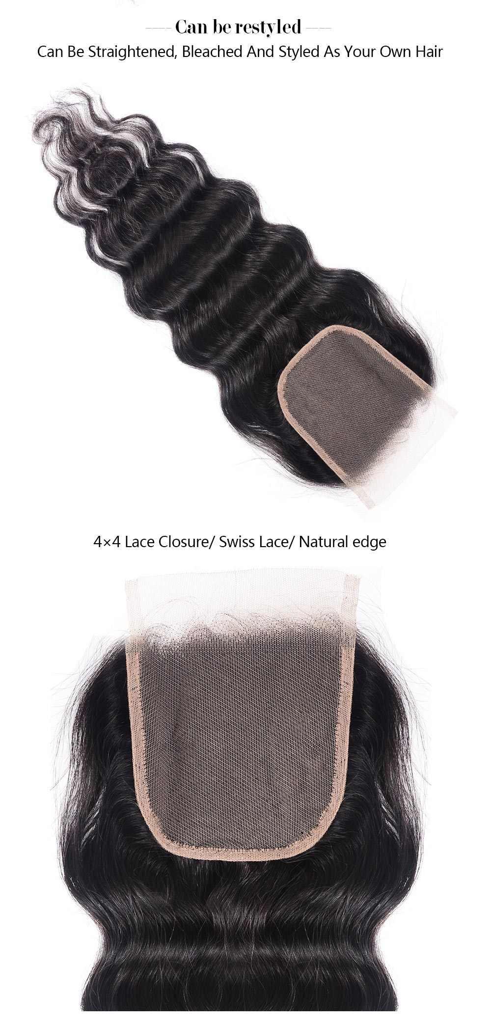Natural Wave Virgin Hair Lace Closure