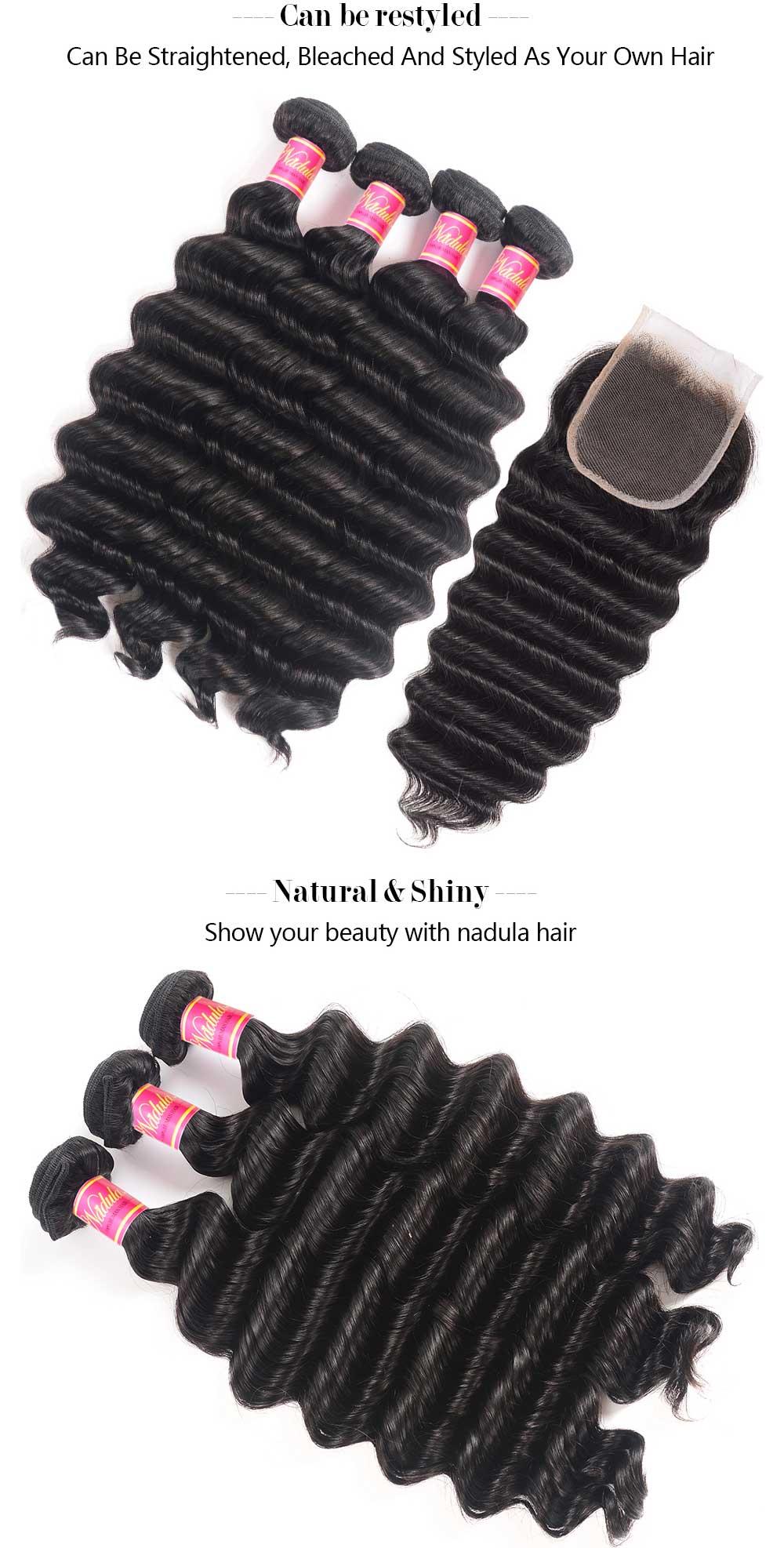 Loose Deep Wave Bundles With 4x4 Lace Closure
