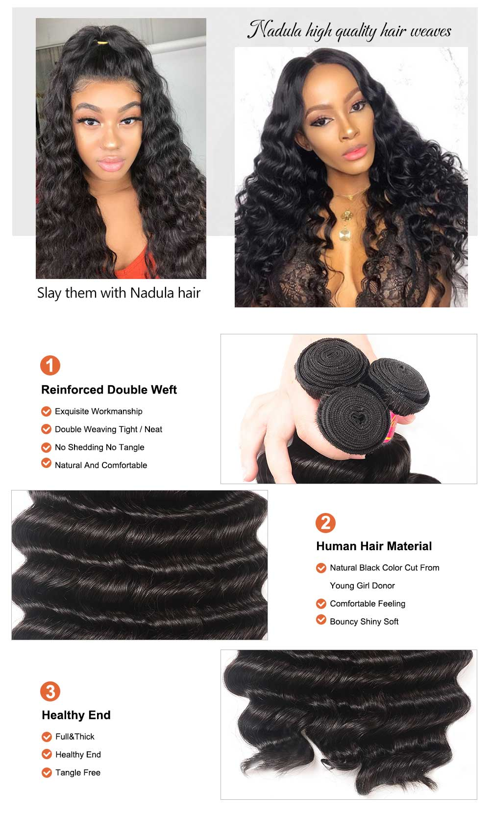 Loose Deep Wave Bundles With 4x4 Lace Closure