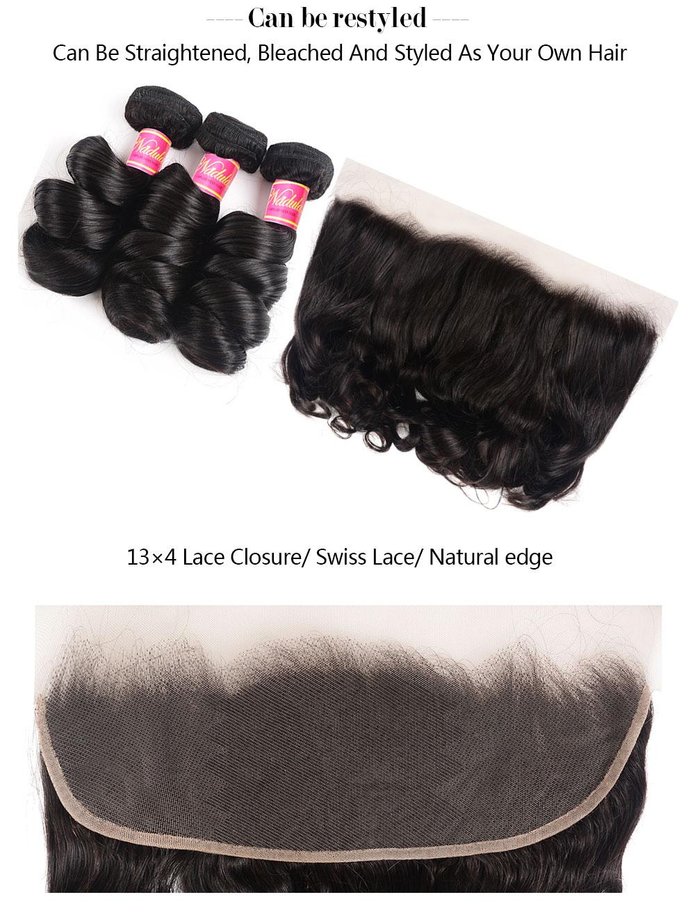 13X4 Lace Closure Frontal Human Hair Weaves