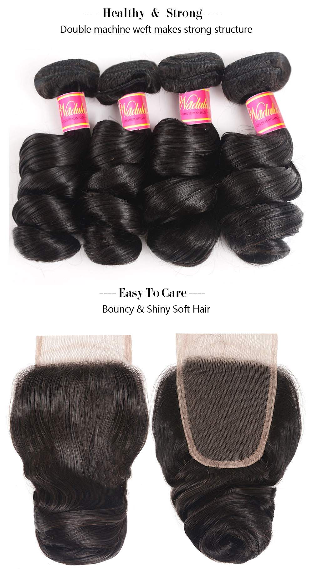 Loose Wave Hair Weave Lace Closure