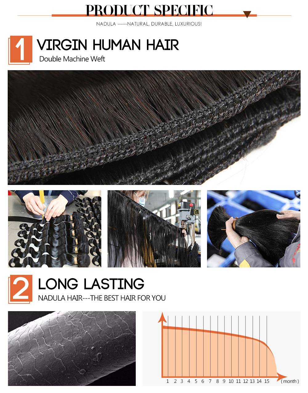 Straight Human Hair Weaves
