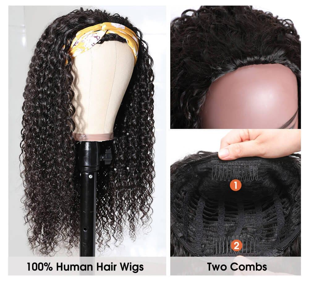 Nadula Jerry Curly Half Wig For Sale 100% Virgin Hair 3/4 Half Wig Black Wig Natural Hair