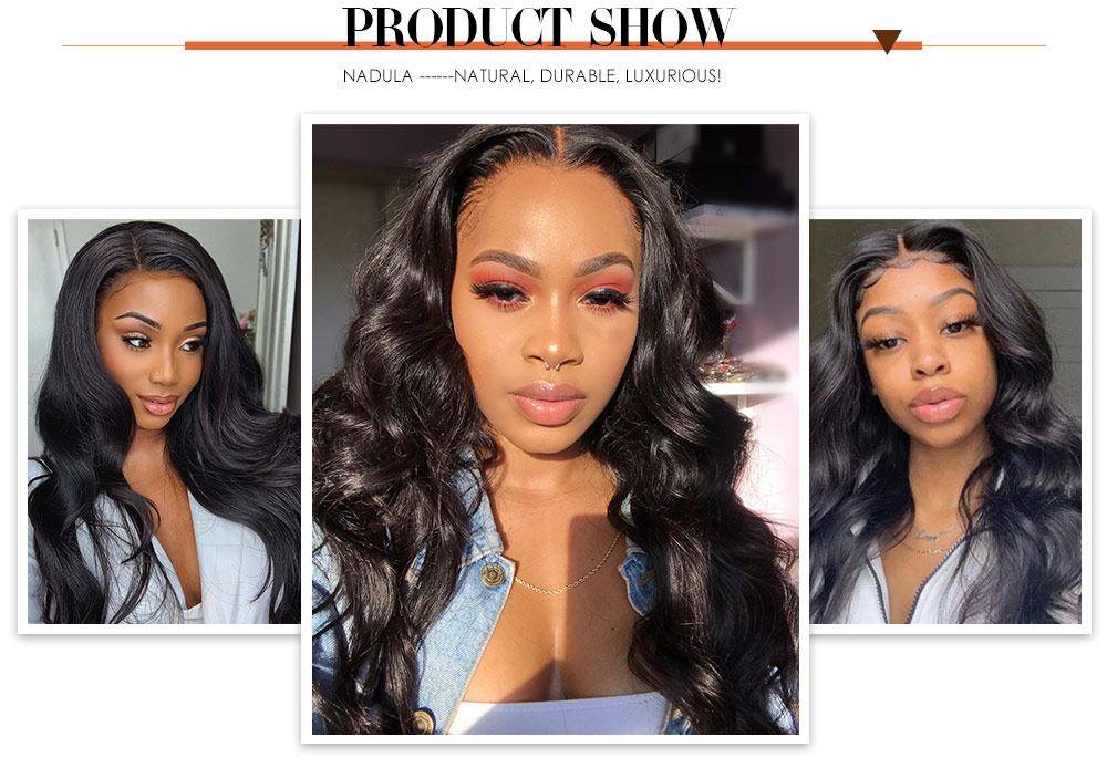 Nadula Body Wave Wig Fake Scalp Wig 150% Density Silk Base Pu Wigs Human Hair Wigs Natural