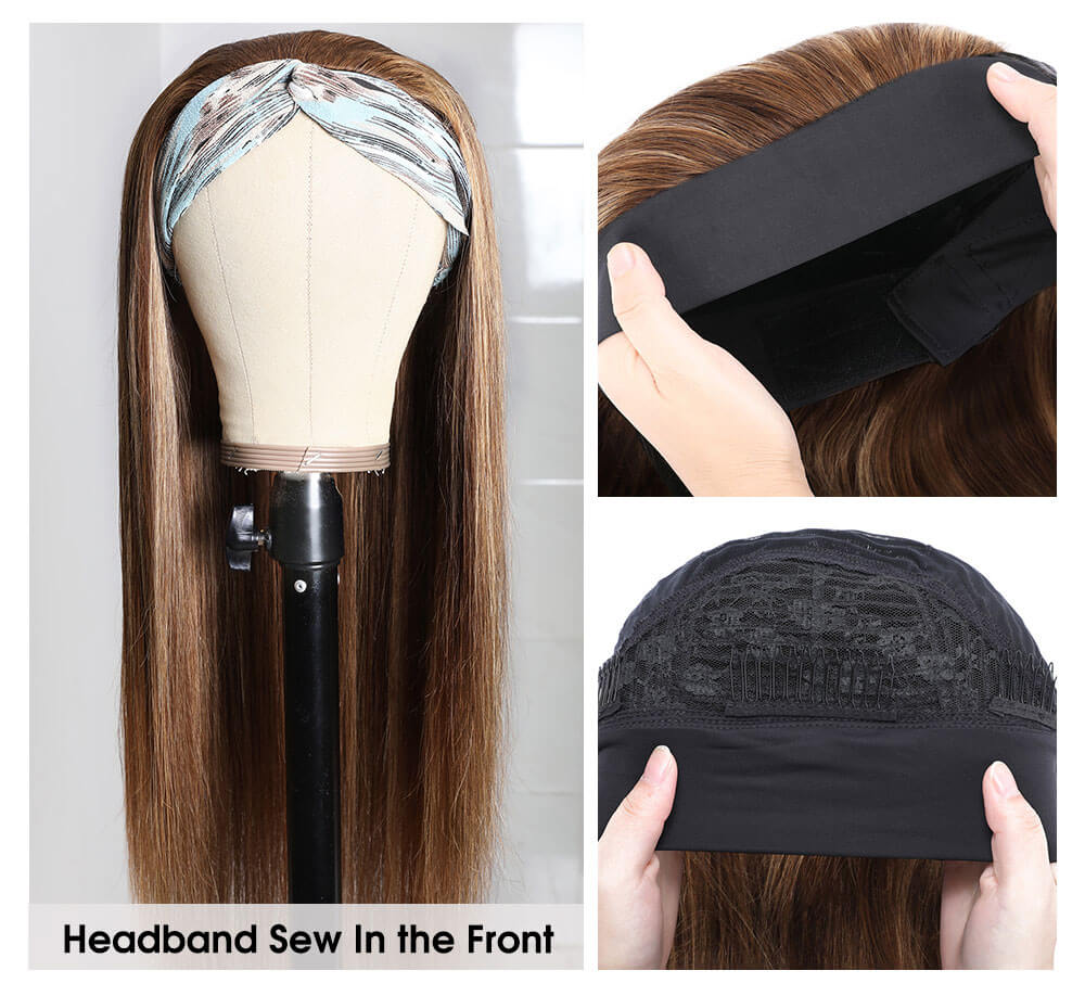 Nadula Long Ombre Headband Remi Half Wig TL412 Color Straight Wig