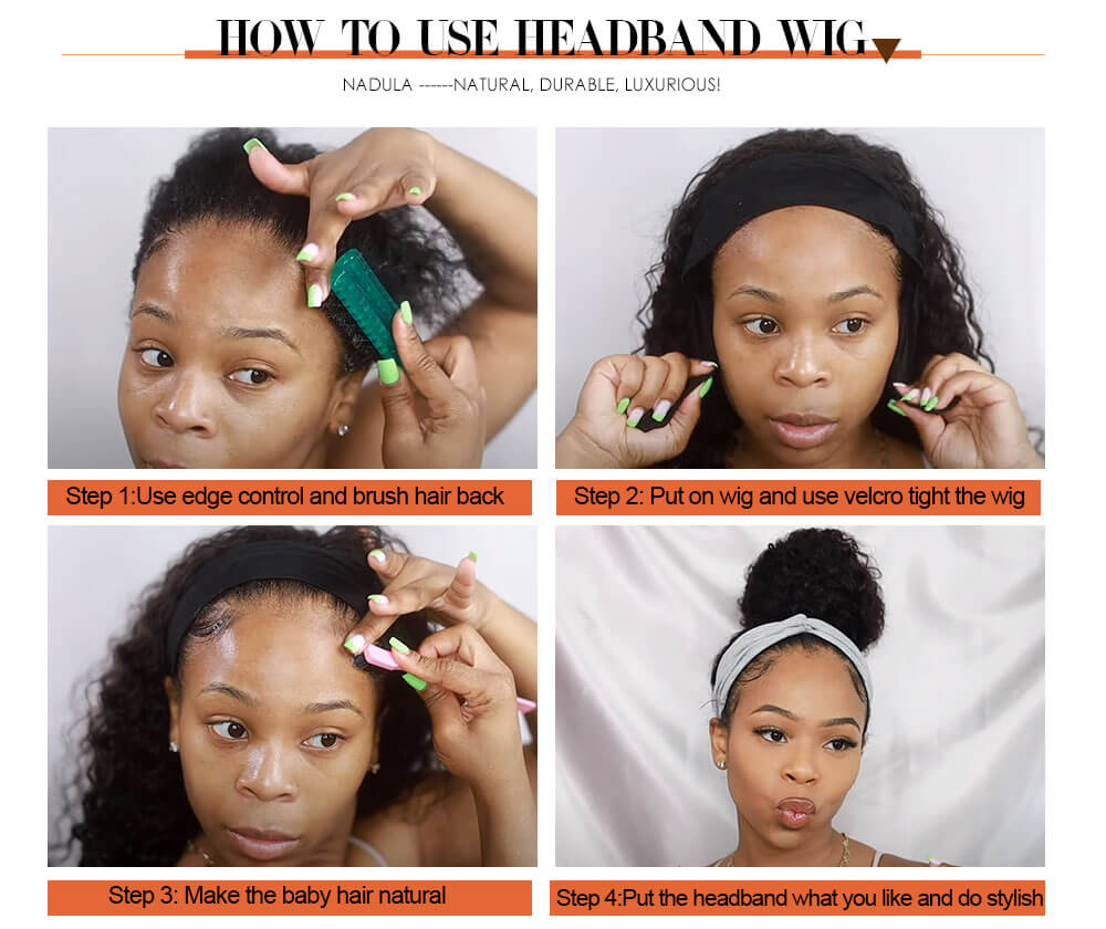 How to wear hedaband wig