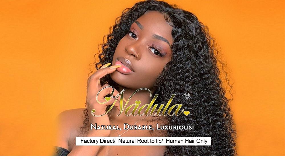 Nadula Water Wave Wigs Half Wig With Headband 100% Virgin Hair Long Headband Wig Fashion