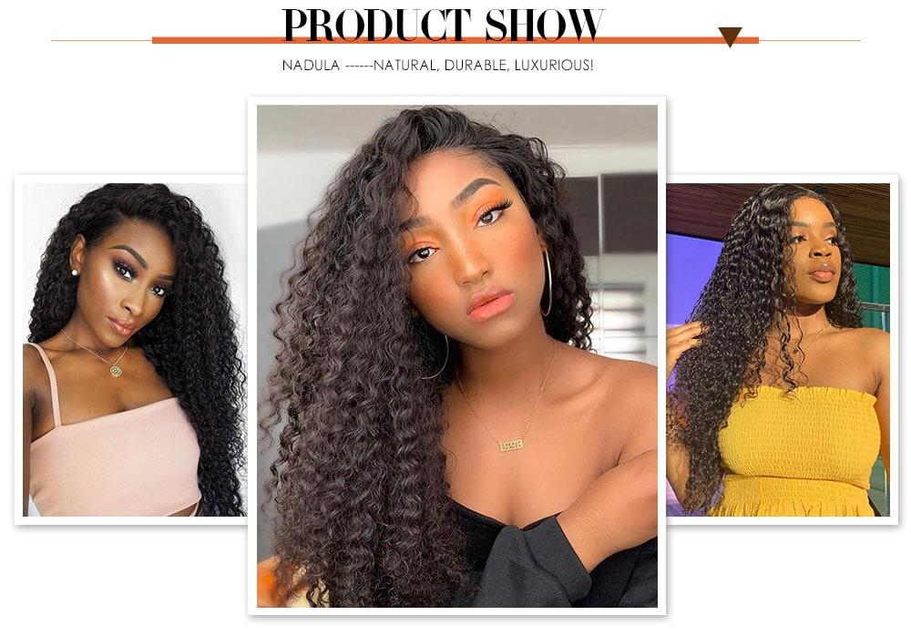 Nadula Curly Wig U Part Wigs For Black Women Left U Part Wigs 150% Density Virgin Hair Curly Wigs
