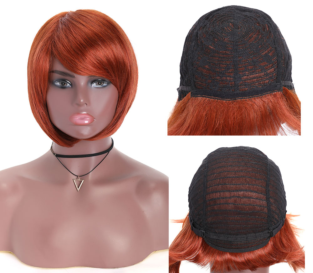 Nadula Straight Short Bob Wig Lace Frontal 150% Density Wig Pre Plucked 100% Human Hair Super Soft