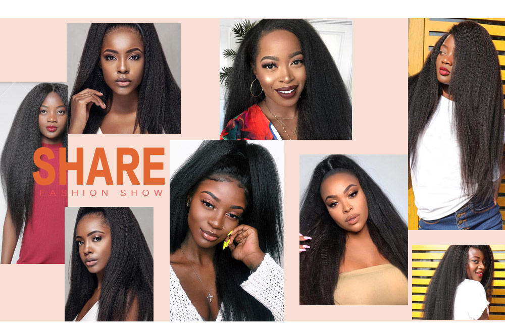 Nadula High Quality Lace Frontal Kinky Straight Pre Plucked Hair 150% Density Wigs Soft