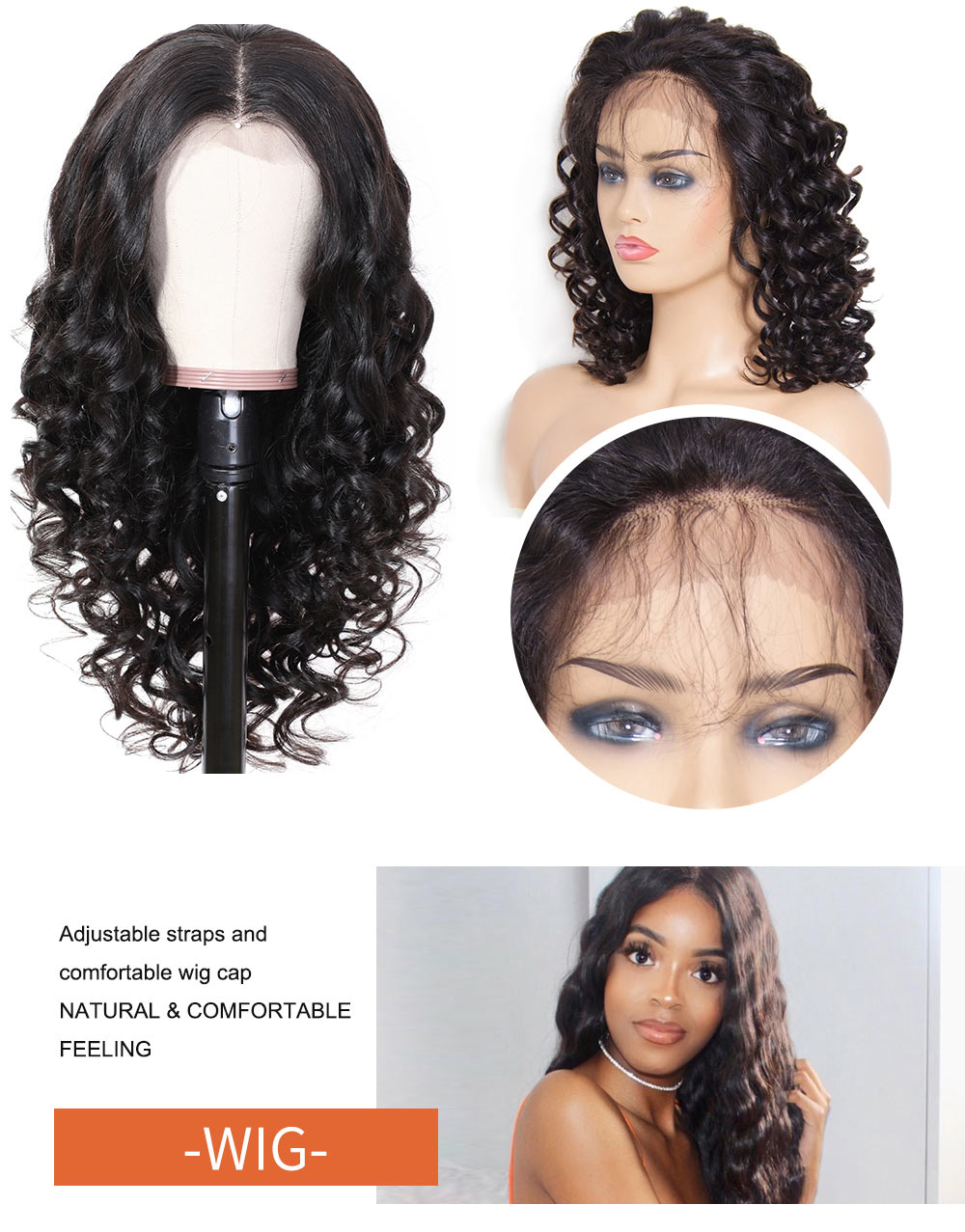Nadula Loose Wavy Lace Front Human Hair 150% Density Wigs High Quality Wigs Best Price