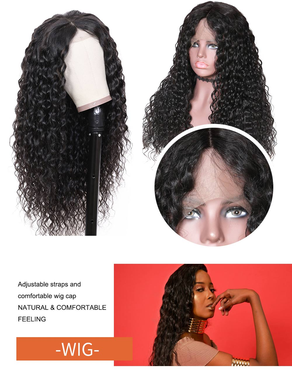 Nadula Water Wave Full Lace Wigs Virgin Human Hair 150% Density Hot Selling